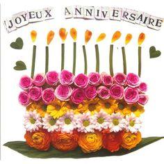 Gâteau d'Anniversaire fait de fleurs