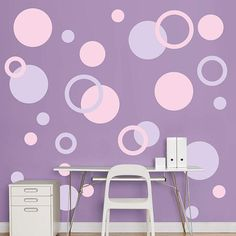 The Polka Dots (Pink) - Large Removable Wall Decals wall decal provides an easy decorating solution. All of Fathead's Polka Dots wall decals are reusable without damaging walls. Polka Dot Wall Decals, Polka Dot Walls, Pink Polka Dots, Bedroom Furniture Makeover, Bedroom Decor, Bedroom Wall, Trendy Bedroom, Girls Bedroom, Leelah