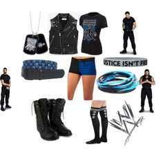 The Shield Diva look if they had one Wrestling Outfits, Wwe Outfits, Wwe Costumes, Sports Costumes, White Halloween Costumes, Halloween 2019, Wwe Shirts, Tactical Vest, Other Outfits