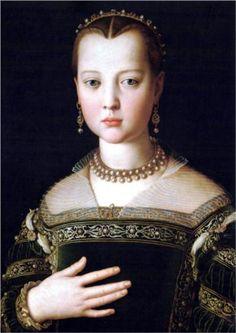 Portrait of Maria de' Medici - Agnolo Bronzino, 1553