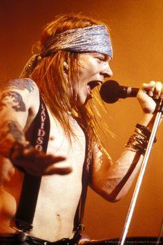 Axl Rose of Guns N' Roses - late 1980's.