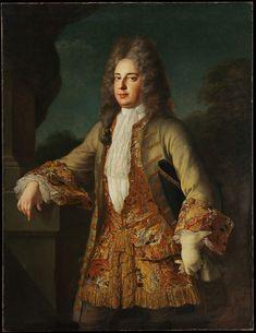 Portrait of an Unknown Man by Alexis Simon Belle. 1712.