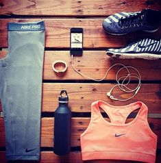 Nike, checker frees, sports bra, grey nike pro capris, nike fuel band