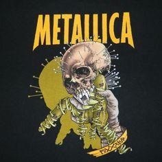 Vintage METALLIC 1998 FIXXXER T-Shirt RELOAD TOUR 90S