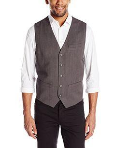 Perry Ellis Men's Travel Luxe Strip Herringbone Suit Vest, Charcoal, X-Large Perry Ellis http://www.amazon.com/dp/B00OCC88VK/ref=cm_sw_r_pi_dp_aQf0ub1Y61AAF