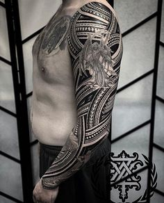 Biz as usual y'all know we booking in August / September - get locked in now then we see you later . H Tattoo, City Tattoo, Arm Band Tattoo, Angelo Tattoo, Free Hand Tattoo, Polynesian Art, Arm Sleeve Tattoos, Tribal Fusion, Angel Tattoo Men