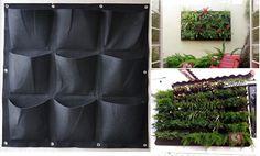$20 + $7 s/h-  indoor/outdoor Decoration 9 pop Large Pocket Hanging Vertical Garden Planter #nobrand