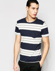 Image 1 of Selected Homme Bold Stripe T-Shirt