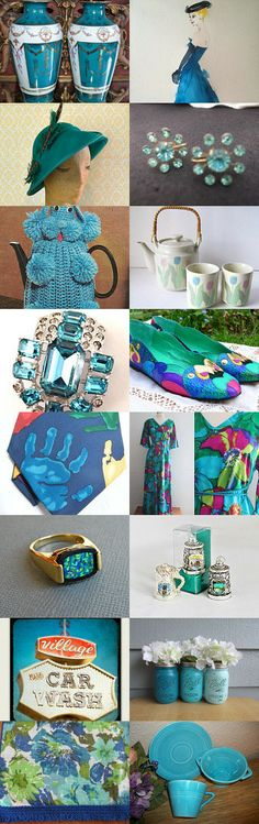 BLUE AND TEAL DAZZLE! by Vickie Cook on Etsy, www.PeriodElegance.etsy.com