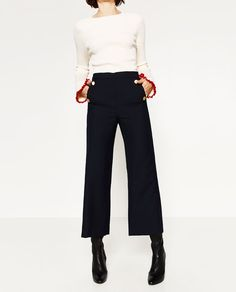GOLD BUTTON TROUSERS - View all-TROUSERS-WOMAN   ZARA United States