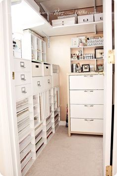 Craft room closet? Interesting idea