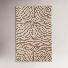 One of my favorite discoveries at WorldMarket.com: Ravella Zebra Indoor-Outdoor Rug, Brown