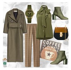 """""""Coffee...My Favorite Food Group..."""" by stylish-at-50ish ❤ liked on Polyvore featuring Primitives By Kathy, Uniqlo, Maison Margiela, Marni, Chloé, Michele, quickoutfit and CupOfCoffee"""