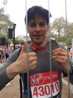 thomas finished the london marathon 2015
