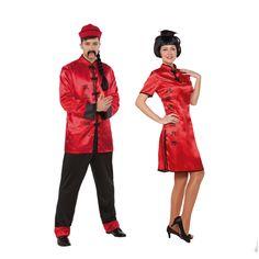Costumes pour couples Chinois Rouges #déguisementscouples