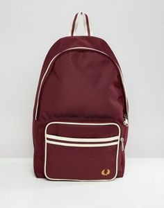 f602c16f4 Fred Perry twin tipped backpack in burgundy