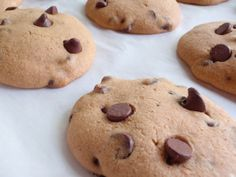Fall baking favorite w/ gluten free flour - Pumpkin Chocolate Chip Dropped Cookies from the Gluten Exchange