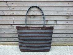 Boiled wool tote bag with waxed leather handles, straps, and a waxed leather bottem COLLECTION WOMEN. $159.00, via Etsy.