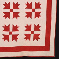 Red and white bear paw 1865