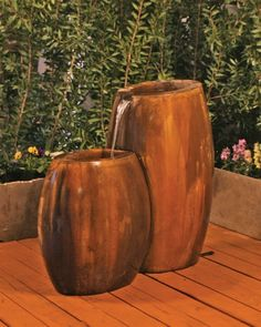 Free Shipping and No Sales Tax on the Hybrid 2-Part Garden Water Fountain from Outdoor Fountain Pros.