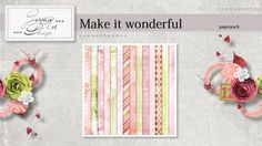 Make it wonderful paperpack by Jessica art-design