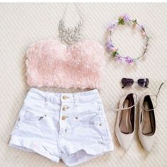 Everyday New Fashion: Pretty Summer Outfits Cute Summer Outfits, Outfits For Teens, Pretty Outfits, Casual Outfits, Cute Outfits, Winter Outfits, Cute Fashion, Teen Fashion, Fashion Outfits