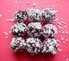 Raw Cranberry Coconut Truffles