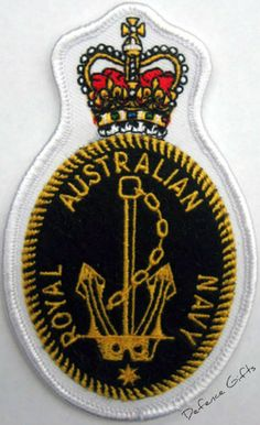 Are you looking for the uniform crests? Shop the Australian Navy Crest Patch for a good price. Royal Australian Navy, Navy Uniforms, Naval History, Defence Force, Emblem, Military Life, Crests, Armed Forces, Diy And Crafts