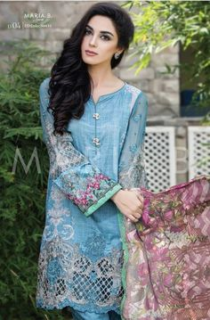 4b9b53ceb7 Maria B Eid Lawn Dresses Maya Ali, Ethnic Gown, Eid Collection, Romantic  Outfit