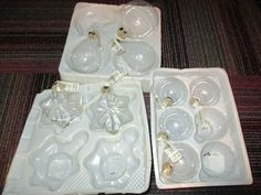 NEW LOT OF 9 CLEAR GLASS BALL, STAR, & PEAR ORNAMENT BY HOLIDAY ELEGANCE, NEW #HANDMADEHOLIDAYSHOLIDAYELEGANCE