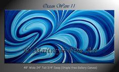 Original Abstract modern Paintings Blue by orignalmodernart, $350.00