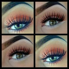 I love everything!!! The colors, the lashes, even her eyebrows are amazing!    eyes