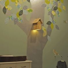 The perfect nightlight for nature theme in babies room. Cute.