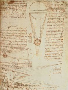 Leonardo da Vinci-Codex Leicester f.1r: notes on the earth and moon, their sizes and relationships to the sun #TuscanyAgriturismoGiratola