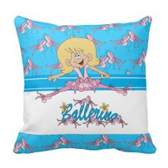 Cute Ballerina Kids Pillow #zazzle #pillow #kids #ballerina