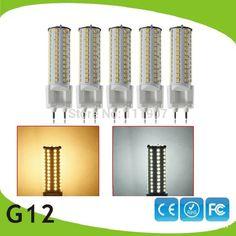 5 pcs/lote Socket 12 W 81 LEDs 360 grau blanc chaud / blanc froid LED maïs ampoule lampe LED gros