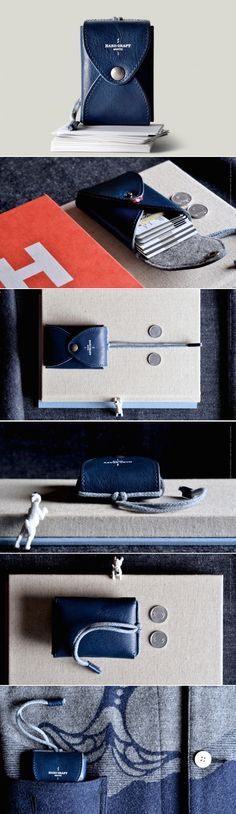 #hardgraft Box Card Case / Ocean