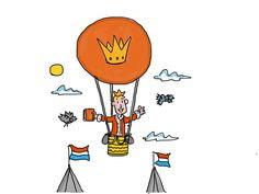 Koning Willem inspecteert Amsterdam