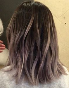 flattering balayage hair color ideas for 2019 page 43 Hair Color And Cut, Ombre Hair Color, Hair Color Balayage, Brown Hair Colors, Hair Highlights, Cool Tone Brown Hair, Ash Brown Highlights, Ash Color, Colour