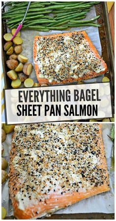 Everything Bagel Sheet Pan Salmon - Ryana O. Food Porn, Cooking Recipes, Healthy Recipes, Health Food Recipes, Keto Recipes, Best Seafood Recipes, Healthy Baking, Healthy Eats, Yummy Recipes