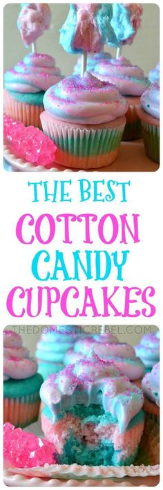 The Best Cotton Candy Cupcakes  Cotton Candy Cupcakes: fun, unique cupcakes flavored just like cotton candy!