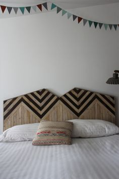 Headboard by designer and woodworker Ariele Alasko
