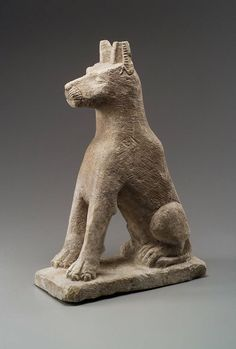 Statue of seated dog, Egyptian, Hellenistic Period (Ptolemaic dynasty)–Roman Imp.