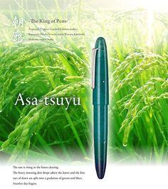 Will a $4000 pen make me a better writer? Hrmmmmm: Sailor King Of Pen Asa-tsuyu  Limited Edition Fountain Pen