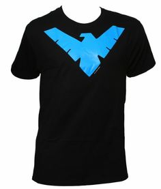 Robin's Nightwing Logo Men's Black T-Shirt.