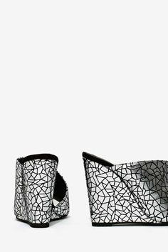 Jeffrey Campbell Jovie Leather Wedge - Silver - Shoes | All | Jeffrey Campbell | Cyber Monday Shoes |