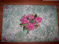 Items similar to Hand Painted Floor Cloth Pink Hydrangea on Etsy Painted Floor Cloths, Painted Floors, Murals Street Art, Pink Hydrangea, Throw Rugs, Floor Rugs, Accent Pieces, Cotton Canvas, Hand Painted