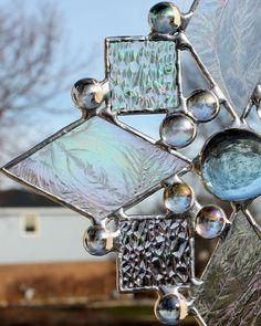 Iridescent Stained Glass Suncatcher