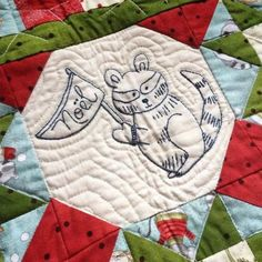 """Winter Friends Quilt Pattern - includes hand embroidery patterns for 7 adorable """"critters"""" 