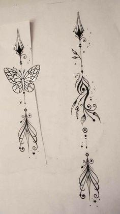 56 Ideas tattoo designs henna tatoo for 2019 Spine Tattoos, Badass Tattoos, Back Tattoos, Body Art Tattoos, Small Tattoos, Tattoos For Guys, Tattoos For Women, Tattoos Masculinas, Small Arrow Tattoos